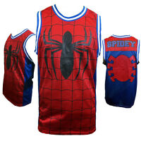 MARVEL SPIDERMAN Mens Basketball Jersey L XL 2XL SPIDEY COMICS Apparel Tank NEW