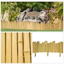 Natural Bamboo Edging (5-Pieces) Outdoor Garden Accent Border Flower Fence Yard