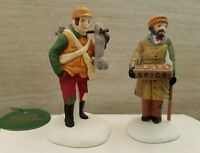 Dept 56 Dickens Village Accessory Village Street Peddlers Hunter Retired NEW
