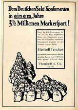 HENKELL & Co. quello tedesco SPUMANTE-consumatori... HENKELL secco XXL promozionale 1907