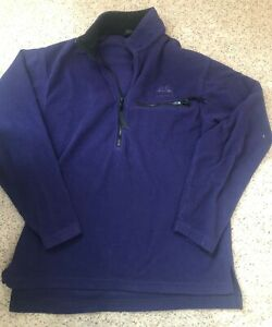 Mens Vintage Marmot Half Zip 1/4 Fleece Pullover PolarTec Jacket Size S/M