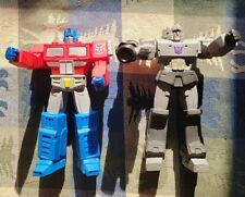 "Optimus Prime And Megatron Lot 2013 Hasbro 6"" Figures Transformer Posable Titans"