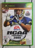 NCAA Football 2005 & Top Spin Combo XBox Video Game EA Sports Complete w/ Manual