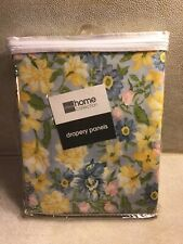 "JCPenney Home Curtain Panel Pair ""CHRISSY"" Floral 84"" x 63"" Drapes- NEW!"