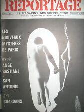 REPORTAGE LE MAGAZINE DES SUJETS CHOC LES NOUVEAUX MYSTERES DE PARIS CABARETS