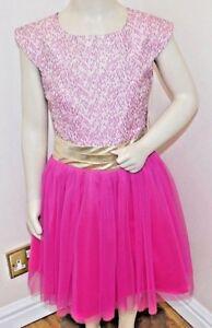 Jona Michelle Girls'Holiday Dress -Fuchsia Brocade 3 sizes fantastic value bnwt