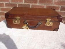 LOVELY FRENCH FIBRE  SUITCASE CAR BOOT TRUNK STORAGE PROP WITH KEY