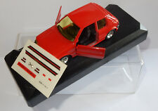 MADE IN FRANCE SOLIDO PEUGEOT 205 GTI ROUGE 1/43 REF 1842 IN BOX + DECALQUES