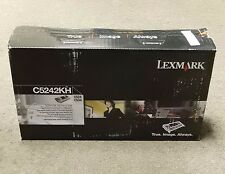 Lexmark C5242KH Black High yield Toner Cartridge C524 Genuine New Sealed Box