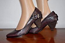 BRONX Chaussures femme escarpins talon cuir marron 37 NEUF !