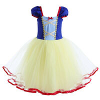 Kid SnowWhite PrincessDress Girl ChristmasParty Fancy Cosplay Halloween Costume