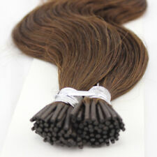 "20"" Stick I Tip 0.8g 100% Human Hair Extensions 8A Grade STRAIGHT(25STRANDS)."