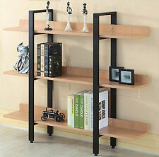 Modern 3 Level Tier Bookcase Storage Display Furniture Bookshelf Shelf Stand