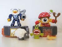 Mega Bloks Skylanders Mini Figure Battle Portal Jet Vac and Shroomboom lot of 2