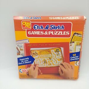 Etch-A-Sketch Games & Puzzles Box of 12 Colorful Overlays No. 517F190