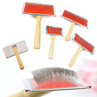 Pet Dog Cat Hair Shedding Grooming Wooden Slicker Trimmer Fur Comb loop hot.