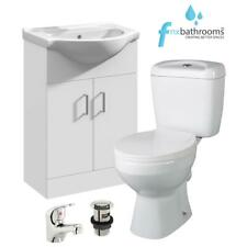 550 Vanity Basin Sink Unit Set with Toilet Optional Tap Bathroom Cloakroom Suite