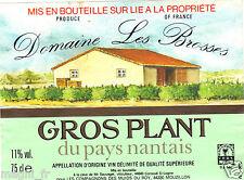 Etiquette de vin - GROS PLANT du Pays Nantais - Domaine Les Brosses (167)