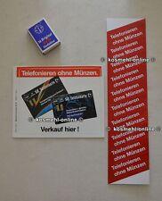 2x alte POST Aufkleber Kartentelefon Telefonzelle : Telefonieren ohne Münzen