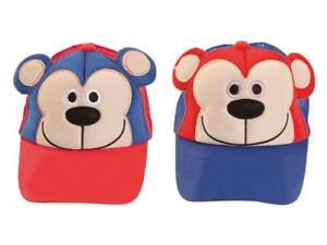 Childrens Kids Animal Monkey Design Novelty Baseball Cap Cute Funny Summer Hat