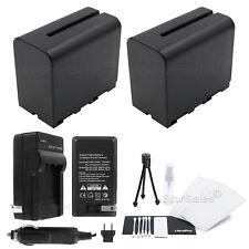 2X NP-F970 Battery + Charger for Sony DCR-TRV900 VX2000 VX2100 FX1 FX7