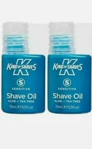 King of shaves oil, pack of two.