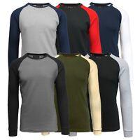 Mens Long Sleeve Thermal Shirt Warm Fall Winter Layering Casual Crew Neck NEW
