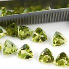Wholesale Lot 5mm to 8mm Trillion Cut Natural Peridot Loose Calibrated Gemstone