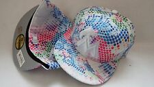 NWT NEW ERA HAT CAP FITTED MIAMI MARLINS SIZE 7 WHITE MULTICOLOR DOTS