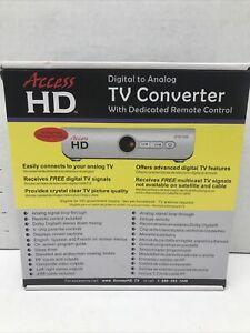 Access HD Digital To Analog TV With Dedicated Remote Control NIB