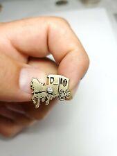 10k Gold & Diamond  Horse /  Stagecoach Pin ( T )