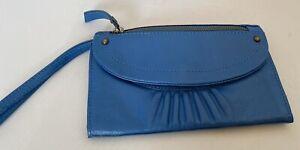 Cute Fat face Blue Leather Clutch, BNWT, RRP £32.50