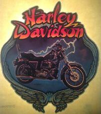 Original Harley Davidson Motorcycle Iron On Transfer Lightning