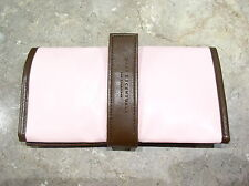 """bareMinerals """"Pink/Dark Brown FAUX-LEATHER BRUSH ROLL"""" New!!!!!"""