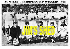 AC MILAN F.C.TEAM PRINT 1963 ( EUROPEAN CUP WINNERS )