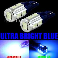 2X T10/192/194 High Power 5630 Chip LED Blue Interior Light Bulbs