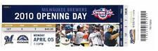 Milwaukee Brewers 2010 Opening Day Unused Ticket Stub