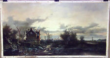 Euro Landscape Oil on Canvas Painting signed: Roberto Scalvini