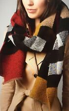 Burberry Multicolor Saffron House Checkered Wool/Cashmere Blanket Scarf 39551561