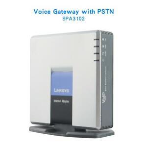 Original Unlocked LINKSYS SPA3102 VOIP internet adapter 1 FXO 1 FXS gateway pstn