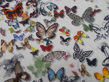 Designers Guild Curtain Fabric 'BUTTERFLY PARADE' 1.7 METRES Opalin 100% Cotton
