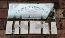 Pub Shed Bar Mirror acrylic personalised unique  bespoke designs man cave gift.
