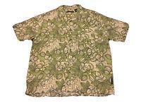 Natural Issue Men Sz L Front Button Hawaiian Shirt Palm Aloha Resort Cruise
