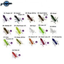 """10 leurre souple flottant insecte Lichinka Strekozi TOIRTAP 1,4"""" pêche chevesne"""