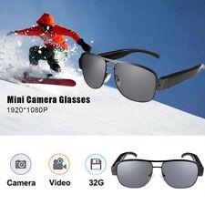 HD 1080P Spy Camera Glasses 1080P Hidden Sunglasses Cam Eyewear DV DVR With 32GB