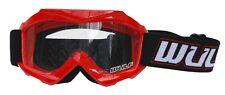 Wulfsport Kids Childrens Youth Tech Motocross MotoX MX Enduro Quad Goggles Red