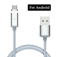 Magnetic Micro USB Charging Cable Adapter Charger For IOS iPhone Android Type-C