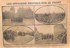 Général Baumgarten Place de Bergues Arras Albert Furnes Belgique  WWI 1915
