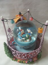 Walt Disney Store Donald Duck Huey Dewey Louie Tea Cup Ride Snow Globe Lights Up