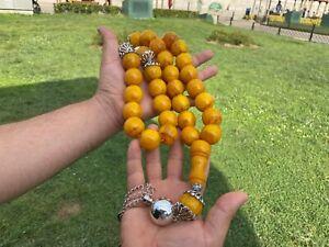 Rare Ottoman Faturan German Amber Sandalous Misbaha Prayerbeads Rosary tasbih..